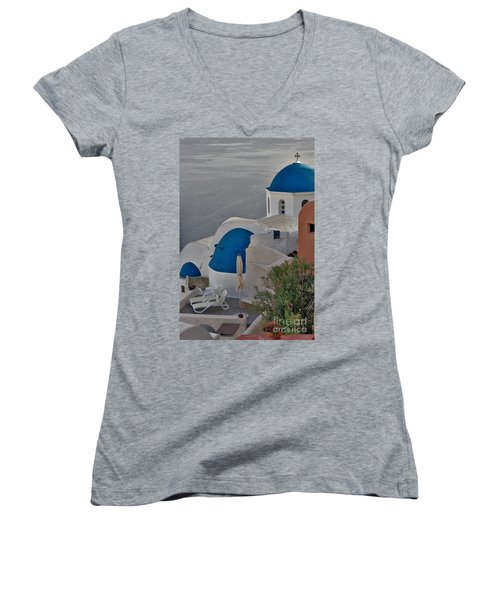 Blue Domes Women's V-Neck