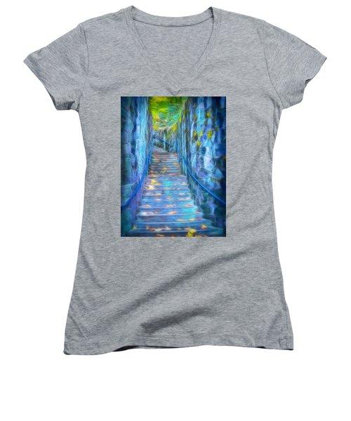 Blue Dream Stairway Women's V-Neck