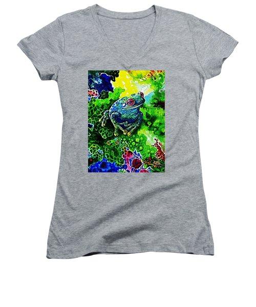 Blue  Frog Women's V-Neck