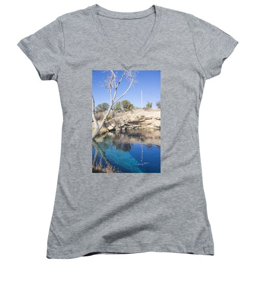 Blue Hole Women's V-Neck T-Shirt