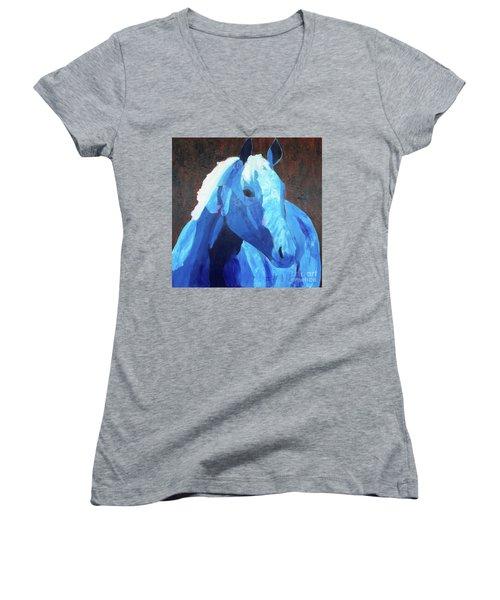 Blue Horse Women's V-Neck T-Shirt