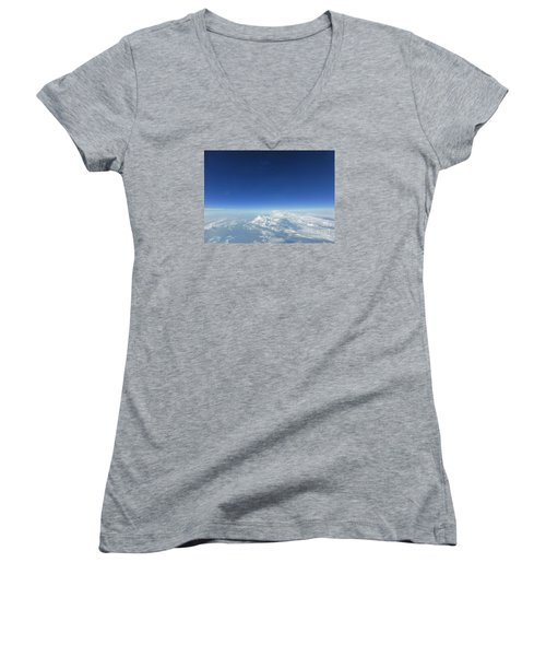 Women's V-Neck T-Shirt (Junior Cut) featuring the photograph Blue In The Sky by AmaS Art