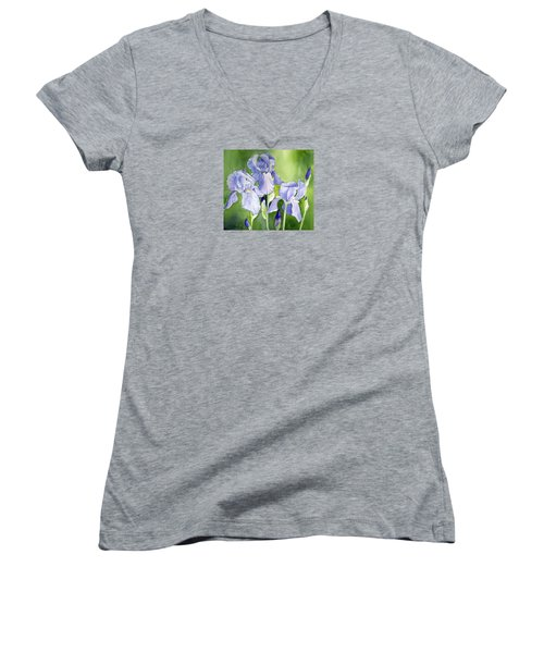 Blue Iris Women's V-Neck