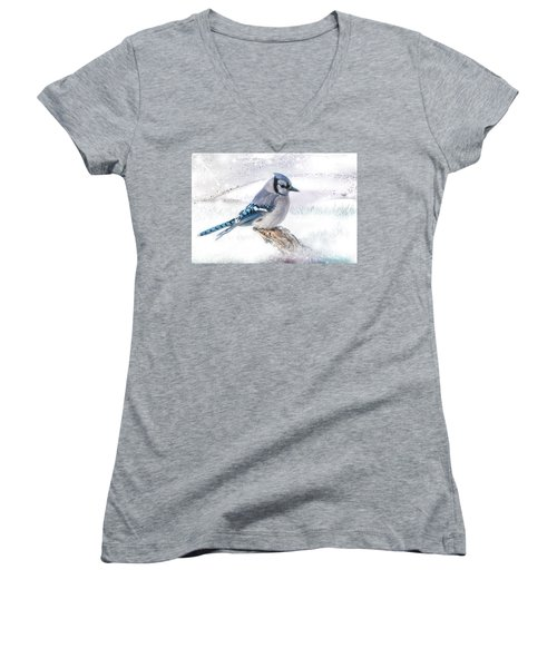 Blue Jay Snow Women's V-Neck