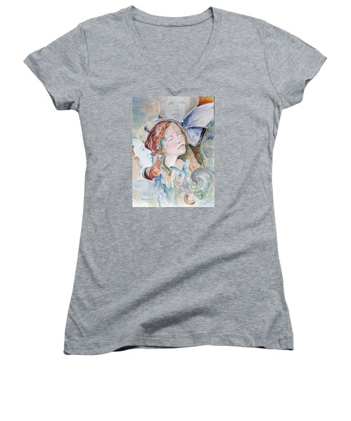 Blue Morpho Women's V-Neck