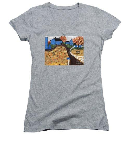 Blue Mountain Farm Women's V-Neck T-Shirt