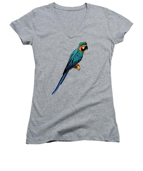 Blue Parrot Art Women's V-Neck