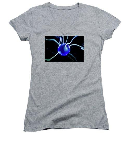 Blue Plasma Women's V-Neck