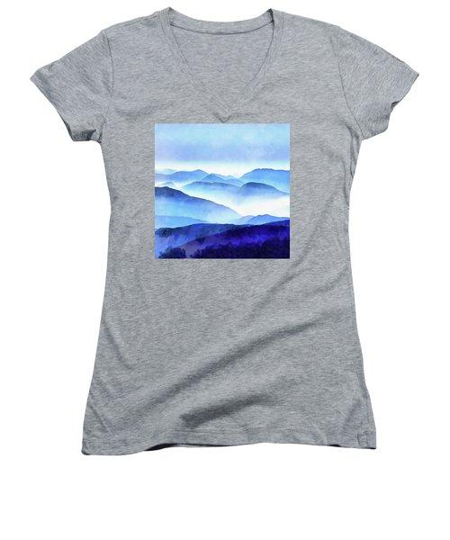 Blue Ridge Mountains Women's V-Neck