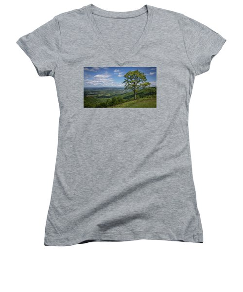 Blue Ridge Parkway Scenic View Women's V-Neck
