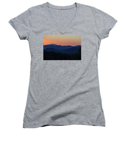 Blue Ridge Sunset Women's V-Neck