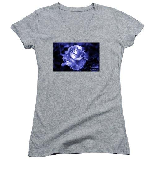 Blue Rose Women's V-Neck T-Shirt