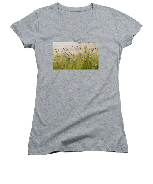 Blue Serenade Women's V-Neck T-Shirt