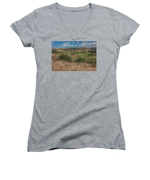 Blue Skies Over Palo Duro Canyon Women's V-Neck (Athletic Fit)