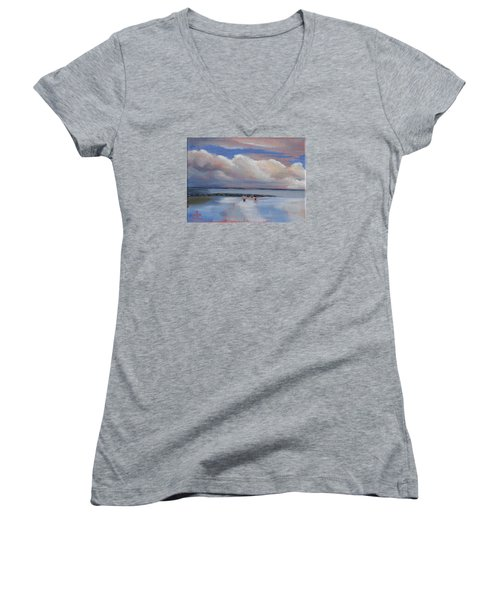 Blue Sky And Clouds I Women's V-Neck (Athletic Fit)