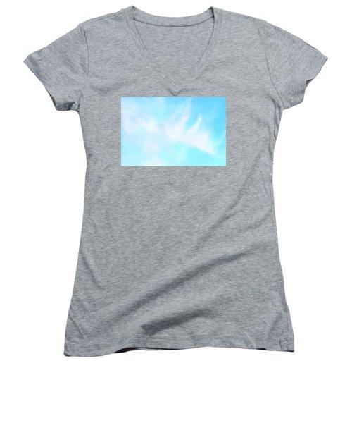 Blue Sky Women's V-Neck T-Shirt (Junior Cut) by Anton Kalinichev