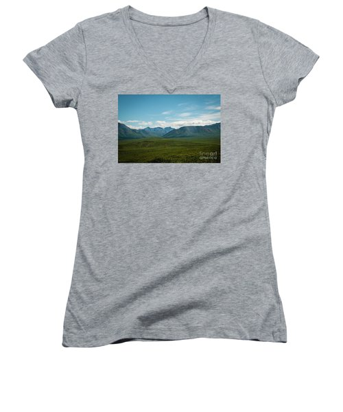 Blue Sky Mountians Women's V-Neck T-Shirt