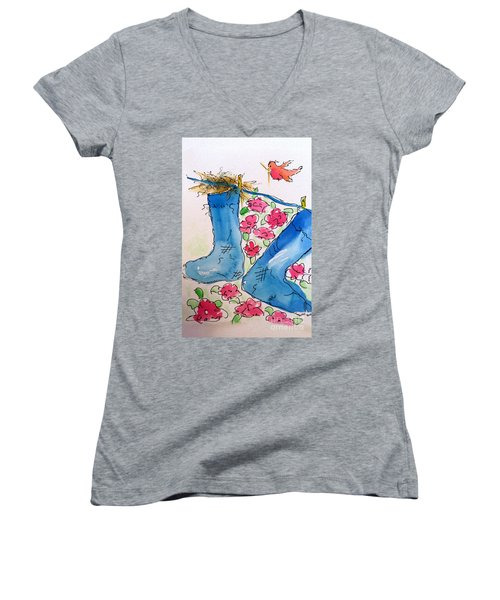 Blue Stockings Women's V-Neck