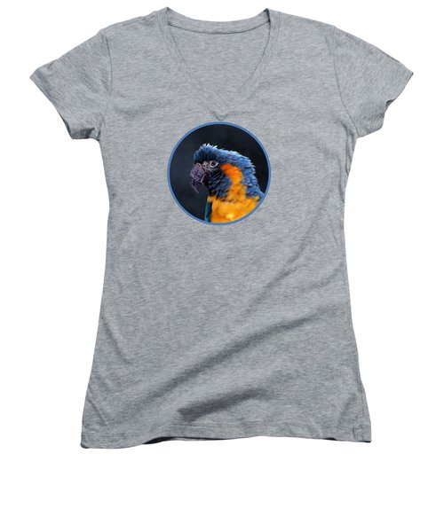Blue-throated Macaw Profile Women's V-Neck (Athletic Fit)