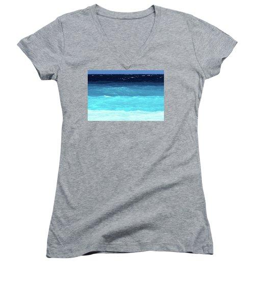 Blue Tones Of Ionian Sea Women's V-Neck