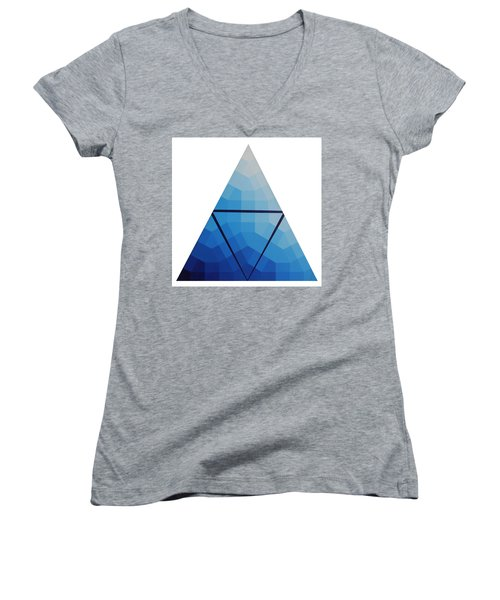 Blue Triangle - Wave Of Blue - Image #10 Women's V-Neck T-Shirt (Junior Cut) by Peter Mooyman