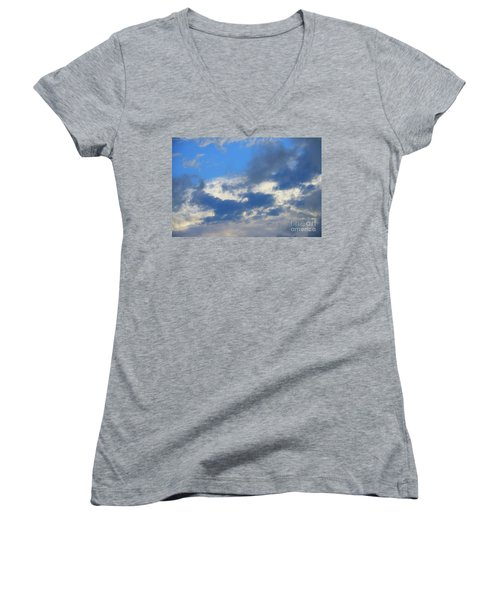 Blue Two Women's V-Neck T-Shirt (Junior Cut) by Jesse Ciazza