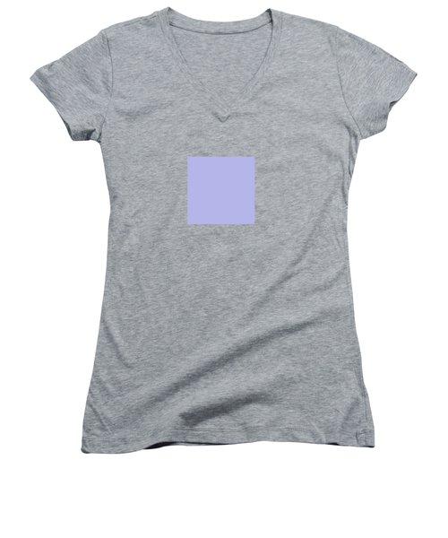 Blue Ultra Soft Lavender Colour Palette Women's V-Neck