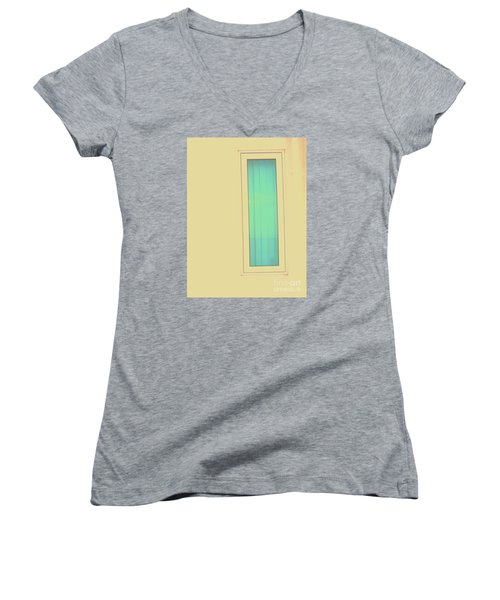 Women's V-Neck T-Shirt (Junior Cut) featuring the photograph Blue  by Vanessa Palomino
