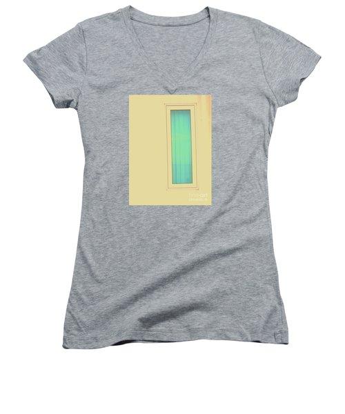 Blue  Women's V-Neck T-Shirt (Junior Cut) by Vanessa Palomino