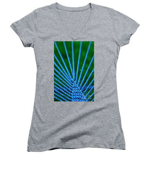 Blue Weave Women's V-Neck T-Shirt
