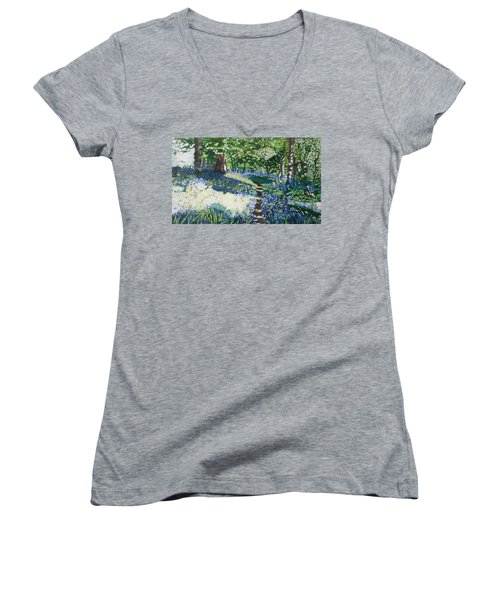 Bluebell Forest Women's V-Neck (Athletic Fit)