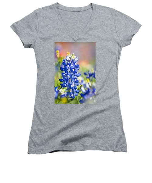 Bluebonnet 1 Women's V-Neck (Athletic Fit)