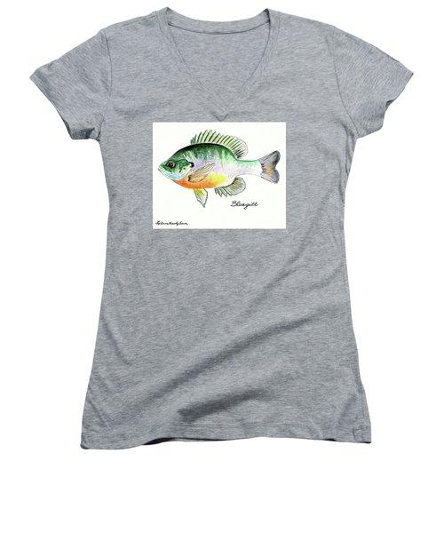 Bluegill Fish Women's V-Neck (Athletic Fit)