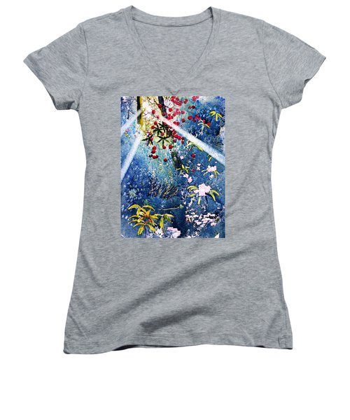 Blues And Berries Women's V-Neck