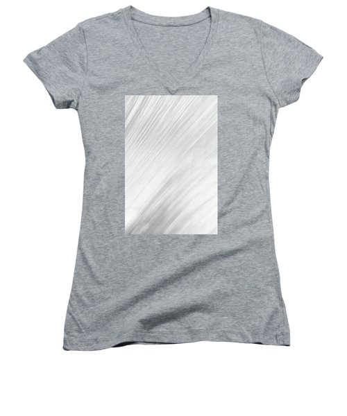 Blurred #4 Women's V-Neck (Athletic Fit)