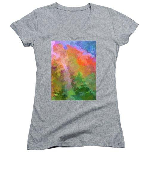 Blurry Painting Women's V-Neck T-Shirt