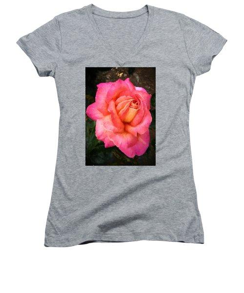 Blushing Rose Women's V-Neck