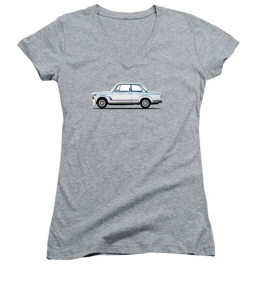 Bmw 2002 Turbo Women's V-Neck T-Shirt (Junior Cut) by Mark Rogan