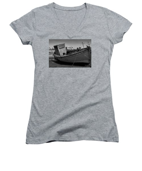 Boarded Up Women's V-Neck (Athletic Fit)
