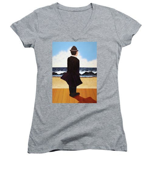 Boardwalk Man Women's V-Neck T-Shirt