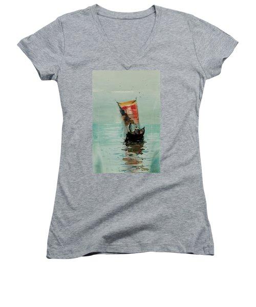 Boat Women's V-Neck (Athletic Fit)