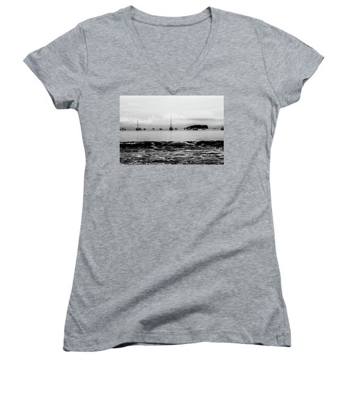 Boats And Waves 2 Women's V-Neck