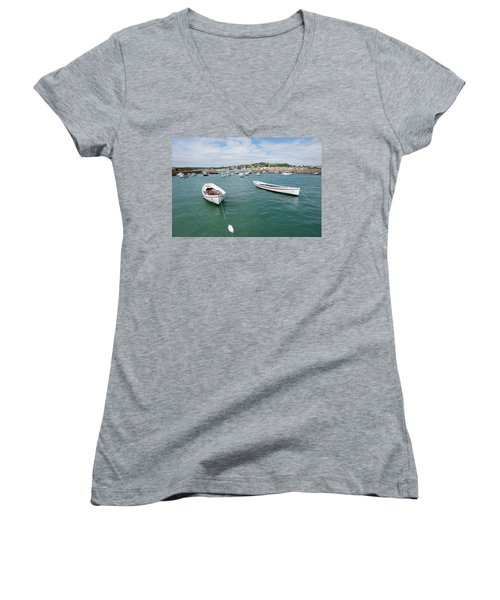 Boats In Habour Women's V-Neck