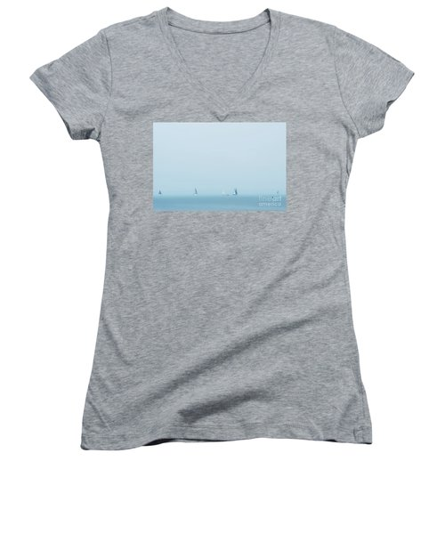 Boats On The Irish Sea Women's V-Neck (Athletic Fit)