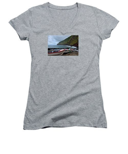 Boats,fishing-23 Women's V-Neck (Athletic Fit)