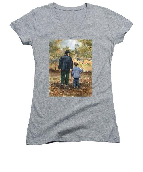 Bob And Alex Women's V-Neck T-Shirt (Junior Cut) by Sam Sidders