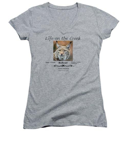 Bobcat - Lynx Rufus Women's V-Neck
