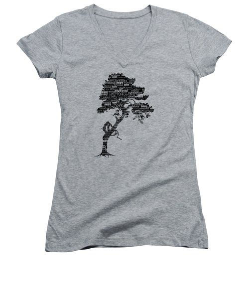 Bodhi Tree Of Awareness Women's V-Neck T-Shirt