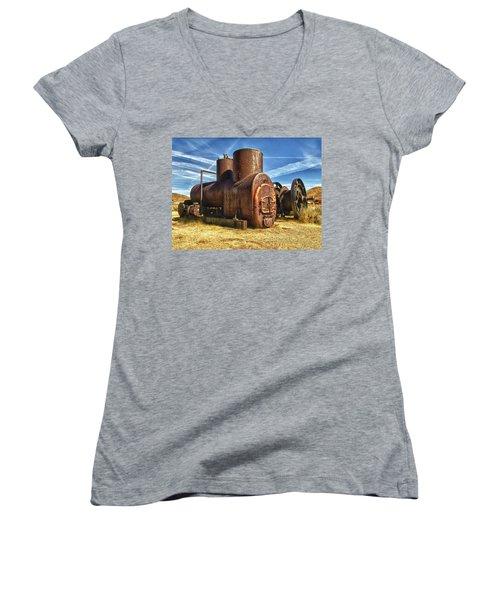 Old Boiler Bodie State Park Women's V-Neck T-Shirt