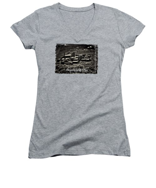 Bodie Ghost Town Stamping Mill Women's V-Neck